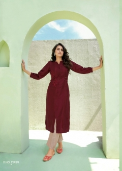 Kalaroop presents Octavia vol 7 Fancy Straight Cut Designer Kurtis