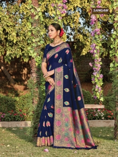 Sangam Presents Bur-Berry Designer Sarees collection