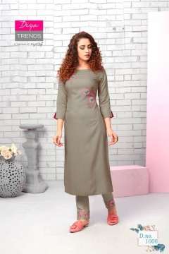 Diya Trends By Forever Vol 1 Running Wear Kurti With Pant Collection