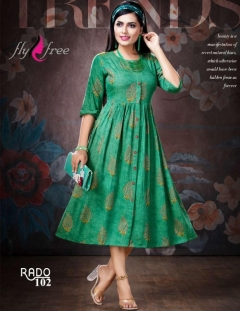 Fly Free present Rado Casual wear Printed Kurtis catalogue