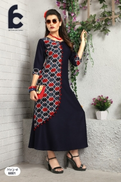 Hely party Wear Kurtis catalog