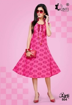 Kinti By kirti Flair Casual Wear Round Flair Kurtis Collection.