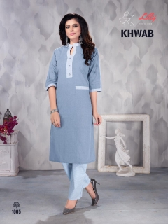 Lilly presents  Khwab Casual Wear Kurti  with bottom