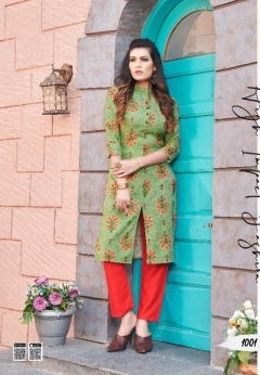 Smylee  presents Afroze vol 2 Printed Kurti With Bottom Collection