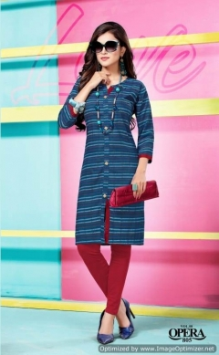 Opera Vol 8 By Kinti  Rayon Printed Kurti Collection