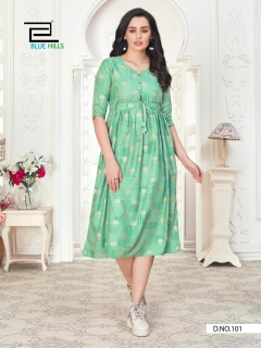 Blue Hills presents  Hi Fi Designer Printed Kurti Collection