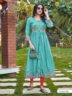 Rangjyot presents gracia vol 1 readymade kurtis wholesale in surat
