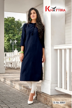 Saily By Khayyira Casual Wear Rayon With Cotton Kurtis Collection