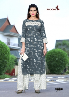 Square By Koodee Rayon Kurtis With Plazzo Collection