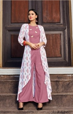 Vastra Moda Present Urbane Vol -1 Festival Wear Kurtis With Shrug Collection