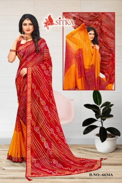 Sitka presents Ping Pong vol 3 Regular Wear   Printed Sarees Collection