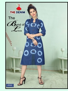 watermelon present the denim kurtis collection